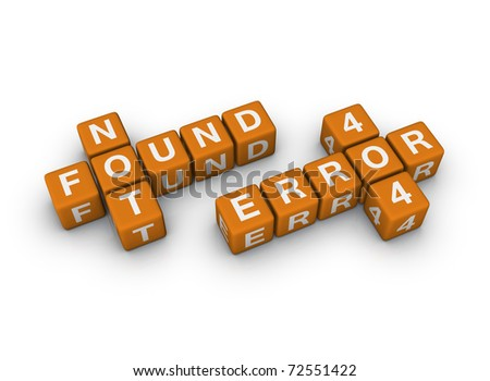page not found - stock photo