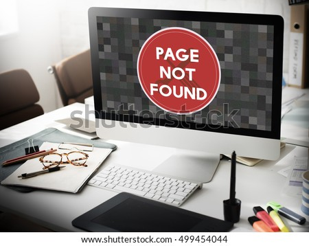 Page Not Found Message 404 Problem Concept