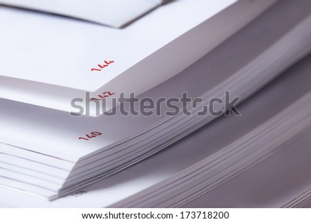page number of open book close up - stock photo