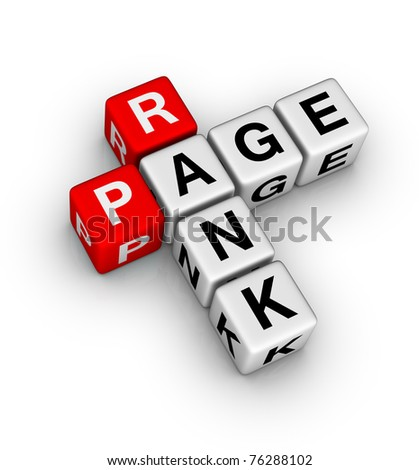 page rank icon - stock photo