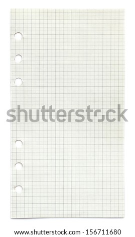 page ripped off from the notebook isolated on white  - stock photo