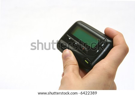 Pager in Right Hand