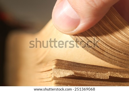 Pages book, macro - stock photo