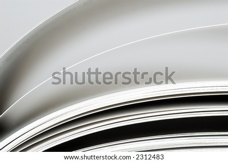 Pages in a book with shallow dof, landscape - stock photo
