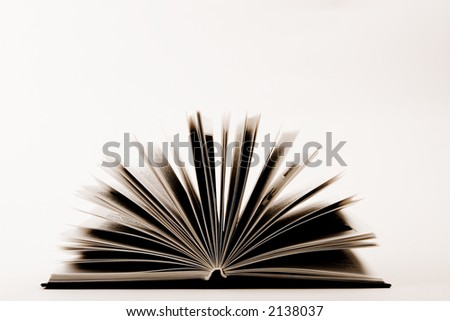 pages of opened book