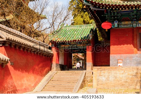 Pagoda at the Authentic Shaolin Monastery (Shaolin Temple), a Zen Buddhist temple. UNESCO World Heritage site