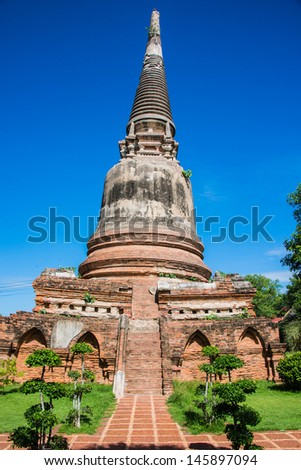 Pagoda in the temple - stock photo