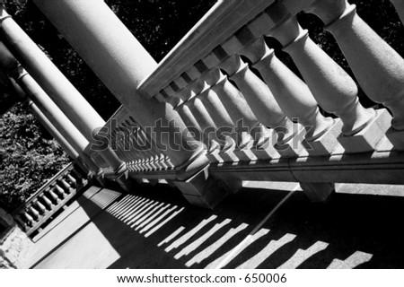 Pagoda Porch - stock photo