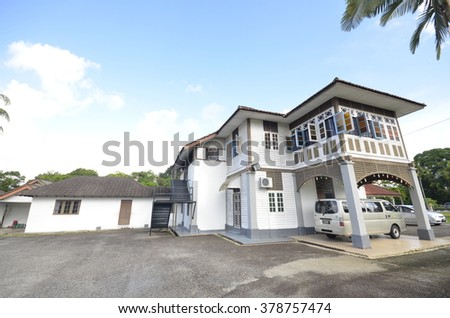 Pahang, Malaysia - JAN 25,2016: Royal residential at Pekan, Pahang. Built in 1929. Now this house transfer to Islamic school