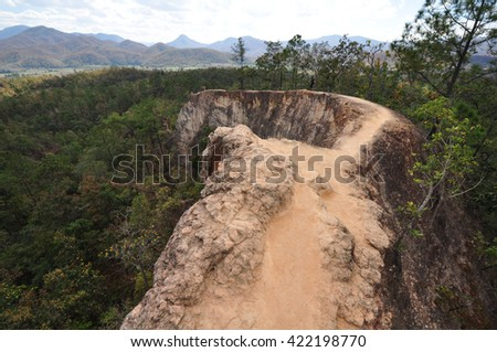 Pai Canyon train on Mountain - stock photo