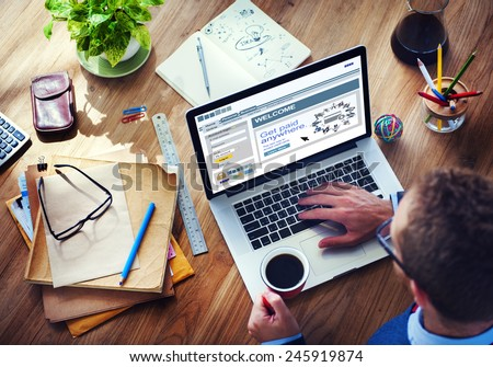 Paid Digital Device Internet Wireless Searching Concept - stock photo