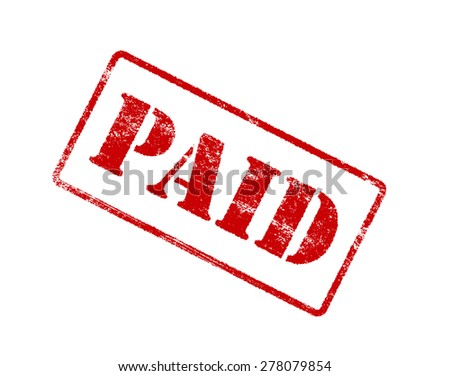 PAID red stamp. - stock photo