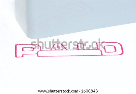 paid stamp - stock photo