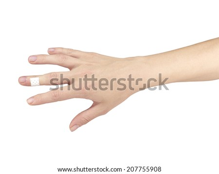 Pain in a man fingere. Male holding hand to spot of finger-ache.