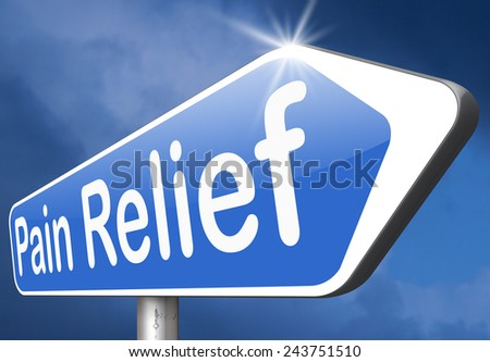 pain management and pain relief for acute and chronic pains - stock photo