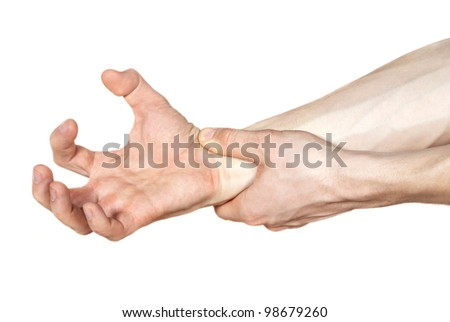 pain of hands isolated - stock photo