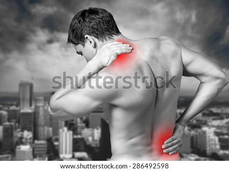 Pain, painful, painfulness. - stock photo