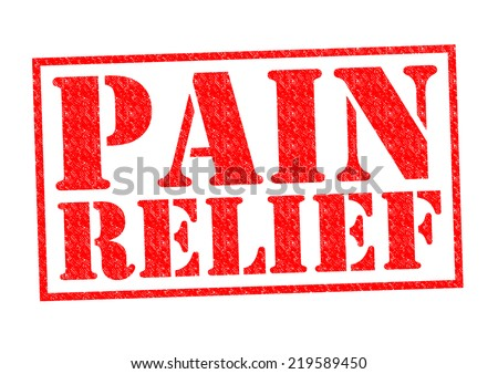 PAIN RELIEF red Rubber Stamp over a white background. - stock photo