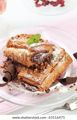 Pains au chocolat - stock photo