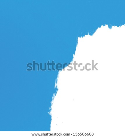 paint blue wall - stock photo