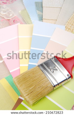 paint brush and color palette selection