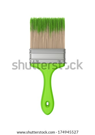 Paint brush.Isolated on white background.3d rendered.