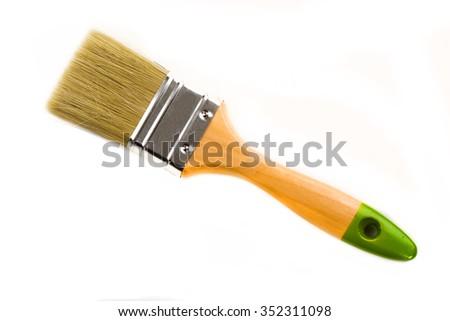 Paint brush on a white background - stock photo