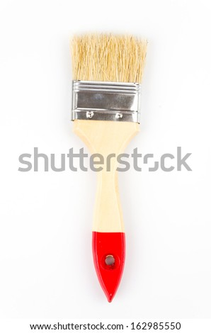Paint brush on isolated white background