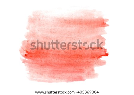 paint brush stroke texture  watercolor spot blotch isolated - stock photo