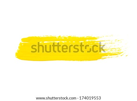 paint brush texture isolated on white
