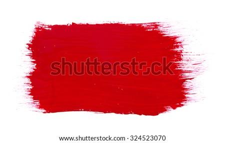 paint brush texture isolated on white - stock photo