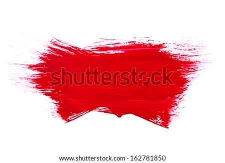 paint brush texture isolated on white .Photo - stock photo