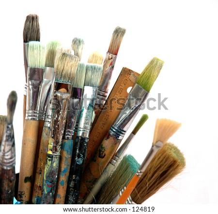 Paint_brushes - stock photo