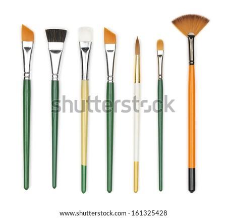 paint brushes - stock photo