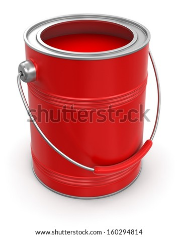 Paint can (clipping path included) - stock photo