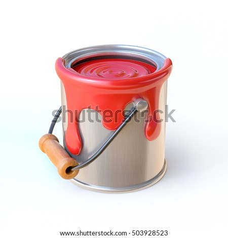 Paint can 3d rendering