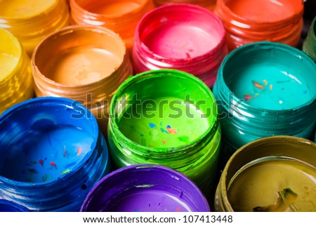 paint colors in the tubes - stock photo