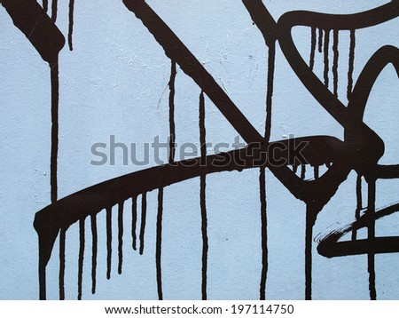 Paint on a metallic door     - stock photo