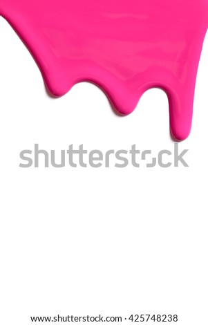 Paint on a white background. - stock photo