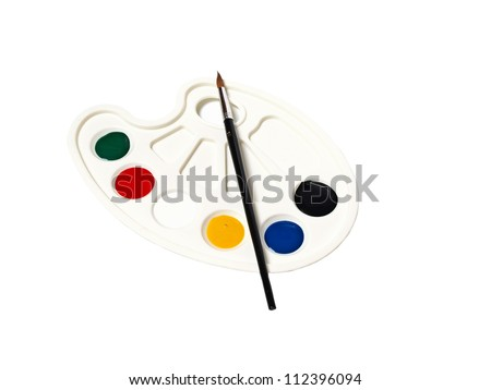 paint palette - stock photo