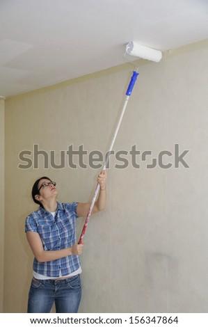 Paint roller - stock photo