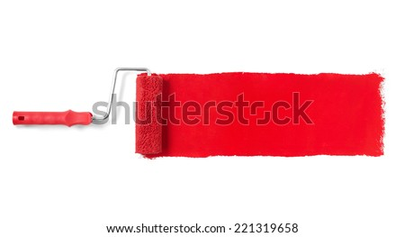 Paint roller Paint roller isolated on white - stock photo