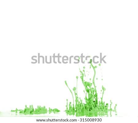 Paint splash - stock photo