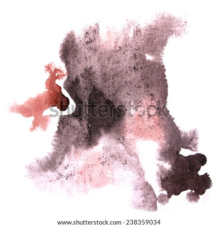 paint splash ink stain watercolour blob black, brown spot brush watercolor abstract background texture - stock photo