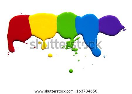 paint splash isolated on white  - stock photo