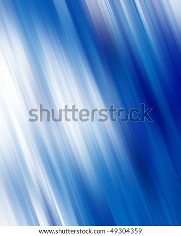 paint streaks on a soft blue background - stock photo