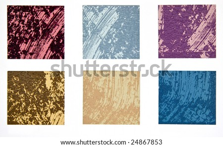 Paint swatch - sample of creative interior painting technique - stock photo
