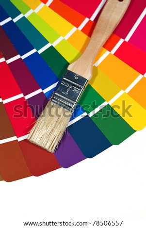 Paint swatches for selecting color for a home improvement project