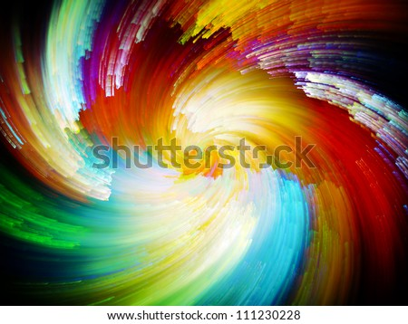 Paint Swirls Series. Backdrop design of streaks of digital color to provide supporting composition for illustrations on art, design and creativity