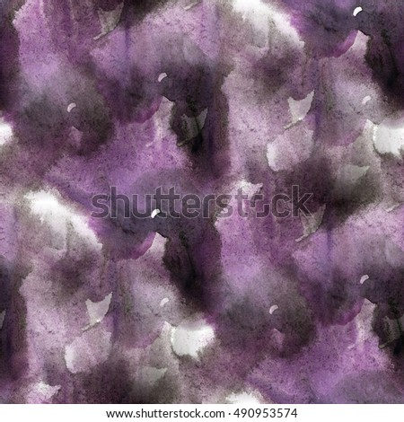 paint watercolor black purple seamless water texture with spots and streaks color
